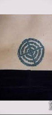 тату мишень №821 – крутой вариант рисунка, который хорошо можно использовать для доработки и нанесения как тату мишень на затылке