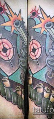 тату мишень №950 – уникальный вариант рисунка, который хорошо можно использовать для доработки и нанесения как тату мишень на затылке