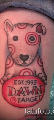 тату мишень №169 – прикольный вариант рисунка, который хорошо можно использовать для переделки и нанесения как тату мишень на затылке