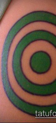 тату мишень №597 – классный вариант рисунка, который удачно можно использовать для переработки и нанесения как тату мишень и скорпион