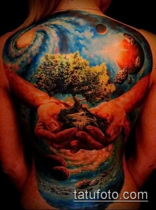 фото тату млечный путь (tattoo Milky Way) (значение) - пример рисунка - 010 tatufoto.com