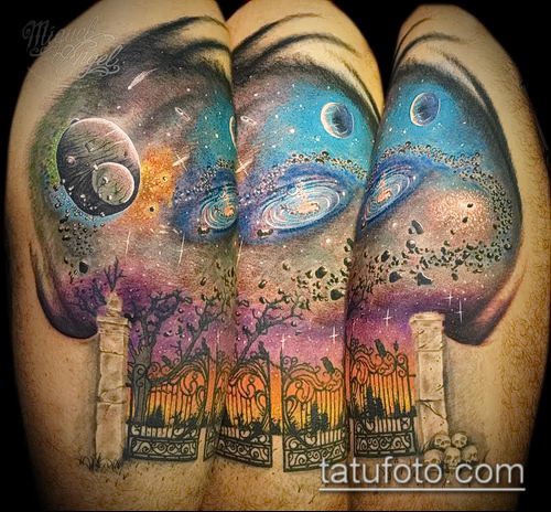 фото тату млечный путь (tattoo Milky Way) (значение) - пример рисунка - 022 tatufoto.com
