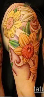 фото тату нарцисс (Narcissus Tattoo) (значение) – пример рисунка – 003 tatufoto.com