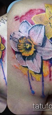 фото тату нарцисс (Narcissus Tattoo) (значение) – пример рисунка – 007 tatufoto.com