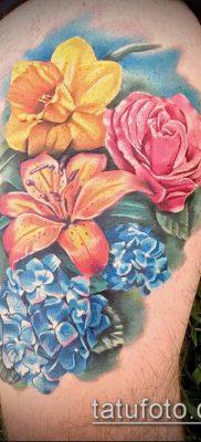 фото тату нарцисс (Narcissus Tattoo) (значение) – пример рисунка – 008 tatufoto.com