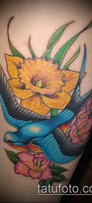 фото тату нарцисс (Narcissus Tattoo) (значение) – пример рисунка – 010 tatufoto.com