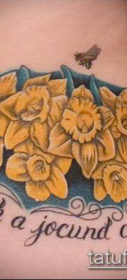 фото тату нарцисс (Narcissus Tattoo) (значение) – пример рисунка – 012 tatufoto.com