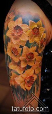 фото тату нарцисс (Narcissus Tattoo) (значение) – пример рисунка – 019 tatufoto.com