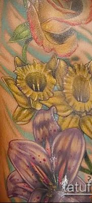 фото тату нарцисс (Narcissus Tattoo) (значение) – пример рисунка – 021 tatufoto.com