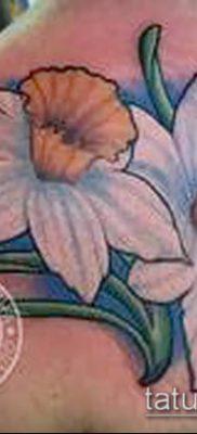 фото тату нарцисс (Narcissus Tattoo) (значение) – пример рисунка – 031 tatufoto.com
