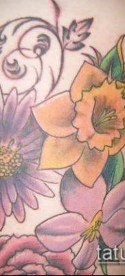 фото тату нарцисс (Narcissus Tattoo) (значение) – пример рисунка – 037 tatufoto.com