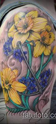 фото тату нарцисс (Narcissus Tattoo) (значение) – пример рисунка – 038 tatufoto.com