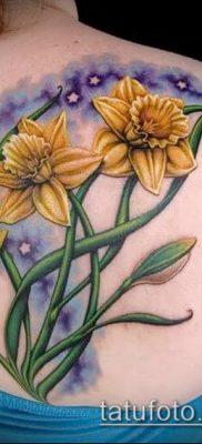 фото тату нарцисс (Narcissus Tattoo) (значение) – пример рисунка – 039 tatufoto.com