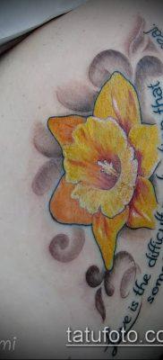 фото тату нарцисс (Narcissus Tattoo) (значение) – пример рисунка – 044 tatufoto.com