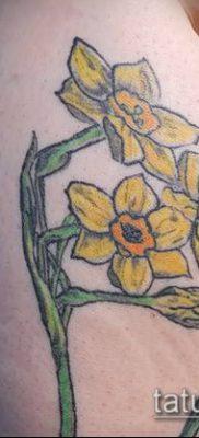 фото тату нарцисс (Narcissus Tattoo) (значение) – пример рисунка – 045 tatufoto.com