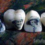 тату на зубах №141 - интересный вариант рисунка, который легко можно использовать для доработки и нанесения как Tattoo on teeth