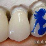 тату на зубах №23 - классный вариант рисунка, который легко можно использовать для преобразования и нанесения как Tattoo on teeth