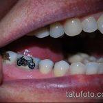 тату на зубах №65 - достойный вариант рисунка, который легко можно использовать для доработки и нанесения как тату на зубах