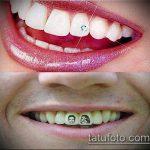 тату на зубах №393 - классный вариант рисунка, который хорошо можно использовать для доработки и нанесения как Tattoo on teeth