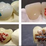 тату на зубах №13 - интересный вариант рисунка, который успешно можно использовать для переработки и нанесения как тату на зубах