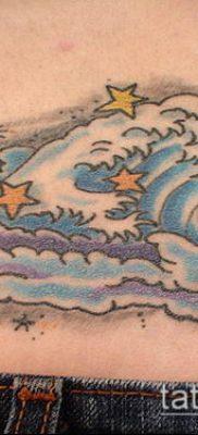 тату облака №355 – эксклюзивный вариант рисунка, который легко можно использовать для преобразования и нанесения как тату облака тучи