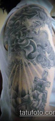 тату облака №903 – крутой вариант рисунка, который хорошо можно использовать для переделки и нанесения как тату солнце облака