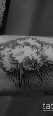 тату облака №22 – эксклюзивный вариант рисунка, который удачно можно использовать для переработки и нанесения как тату облака на руке