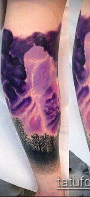 тату облака №776 – классный вариант рисунка, который успешно можно использовать для переделки и нанесения как тату облака на руке
