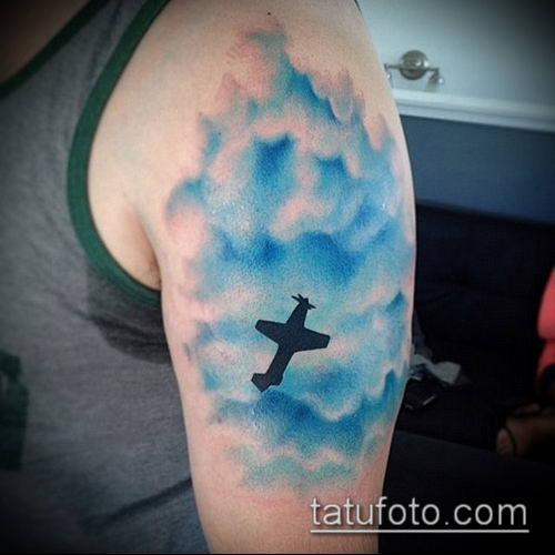 тату облака №364 - уникальный вариант рисунка, который хорошо можно использовать для преобразования и нанесения как тату облака и звезды
