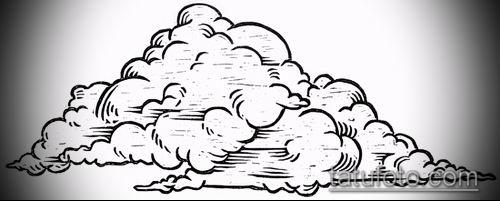 тату облака №497 - уникальный вариант рисунка, который хорошо можно использовать для доработки и нанесения как тату облака фон