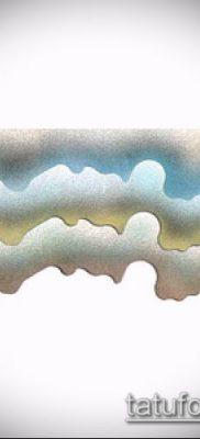 тату облака №150 – уникальный вариант рисунка, который легко можно использовать для преобразования и нанесения как тату луна в облаках