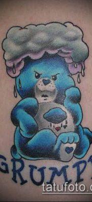 тату облака №974 – интересный вариант рисунка, который легко можно использовать для переработки и нанесения как тату луна в облаках