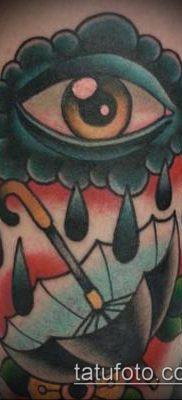тату облака №980 – достойный вариант рисунка, который успешно можно использовать для преобразования и нанесения как тату облака тучи