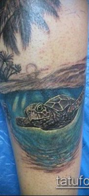 тату океан №147 – крутой вариант рисунка, который хорошо можно использовать для доработки и нанесения как Tattoo ocean