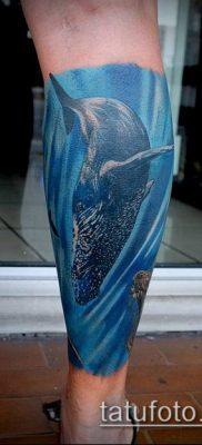 тату океан №497 – классный вариант рисунка, который хорошо можно использовать для переработки и нанесения как тату море в круге