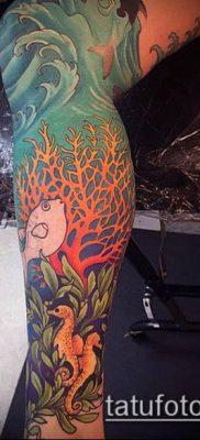тату океан №141 – эксклюзивный вариант рисунка, который легко можно использовать для доработки и нанесения как Tattoo ocean