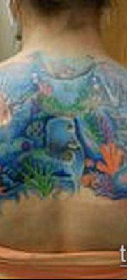 тату океан №797 – крутой вариант рисунка, который успешно можно использовать для преобразования и нанесения как тату море вода