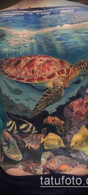 тату океан №380 – эксклюзивный вариант рисунка, который легко можно использовать для переделки и нанесения как Tattoo ocean