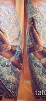 тату океан №58 – достойный вариант рисунка, который удачно можно использовать для преобразования и нанесения как тату море в сердце