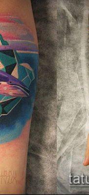 тату океан №807 – достойный вариант рисунка, который успешно можно использовать для переделки и нанесения как тату океан на спине