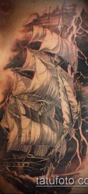 тату океан №384 – классный вариант рисунка, который легко можно использовать для переработки и нанесения как луна и океан тату