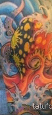 тату океан №791 – интересный вариант рисунка, который удачно можно использовать для переработки и нанесения как тату океан рукав