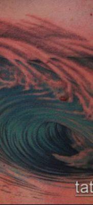 тату океан №468 – интересный вариант рисунка, который удачно можно использовать для переделки и нанесения как тату океан рукав