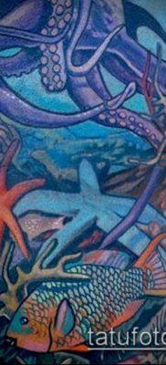 тату океан №20 – эксклюзивный вариант рисунка, который удачно можно использовать для доработки и нанесения как тату море в сердце