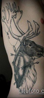 фото тату олень с рогами (tattoo) (значение) – пример рисунка – 007 tatufoto.com