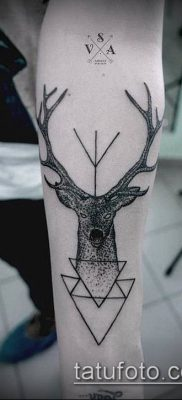 фото тату олень с рогами (tattoo) (значение) – пример рисунка – 008 tatufoto.com