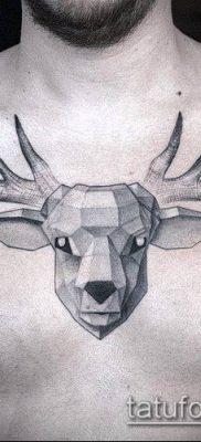 фото тату олень с рогами (tattoo) (значение) – пример рисунка – 011 tatufoto.com
