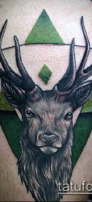фото тату олень с рогами (tattoo) (значение) – пример рисунка – 012 tatufoto.com