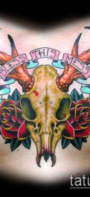 фото тату олень с рогами (tattoo) (значение) – пример рисунка – 018 tatufoto.com