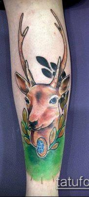 фото тату олень с рогами (tattoo) (значение) – пример рисунка – 028 tatufoto.com